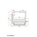 LCK Kolumba 03 1,875 - Egyenes üvegű csemegepult beépített aggr. (V)