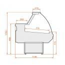 LCD Dorado D REM 1,2 | Hajlított üvegű csemegepult