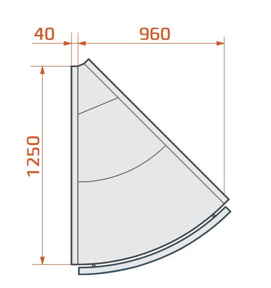 LCP Pegas SPH EXT45 - Külső sarokpult 45°