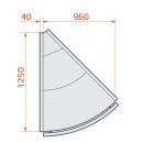 LCP Pegas SPH REM EXT45 | Külső sarokpult 45°