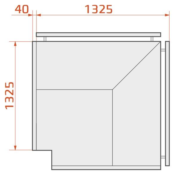 LCK Kolumba REM EXT90 - External corner counter 90°