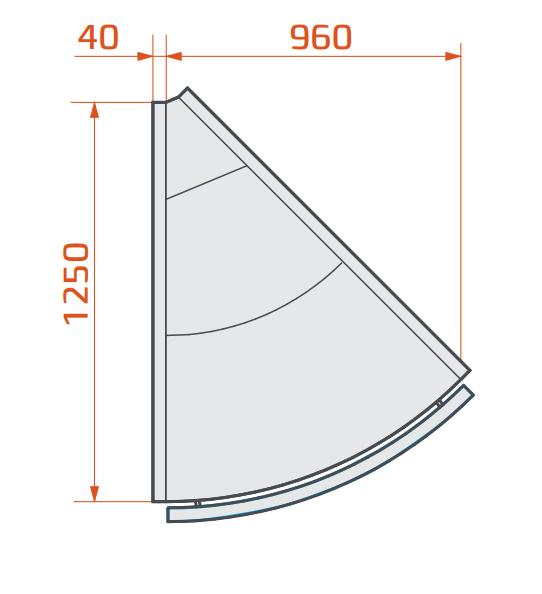 LCP Pegas SPH SELF EXT45 | Önkiszolgáló külső sarokpult 45°