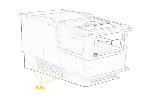 G-1 MC 65/120/CH - MONACO Pultra helyezhető italhűtő