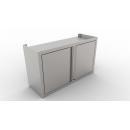 800x400x600   Rozsdamentes faliszekrény nyílóajtóval