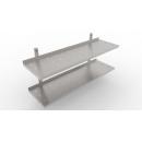 400x400 | Rozsdamentes 2 szintes állítható perforált falipolc
