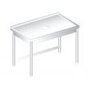 RM M 700 - Rozsdamentes moslékoló asztal hátsó felhajtással 700mm