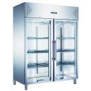 KH-GN1410TNG | Rozsdamentes hűtővitrin 2 ajtóval