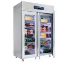 VN18-G | Rozsdamentes két üvegajtós hűtővitrin