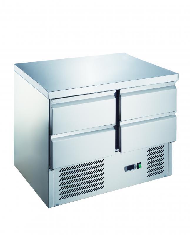 KH-S901-4D | Hűtött munkaasztal 4 fiókkal