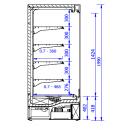 GRANDIS 1.25/0.7   Hűtött faliregál