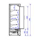 GRANDIS 1.25/0.9   Hűtött faliregál