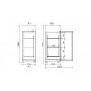 GASTRO F500 INOX | Teleajtós rozsdamentes fagyasztószekrény