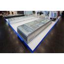 UMD 1850 GB D/S BODRUM I Hűtő/mélyhűsziget záróelem csúszó domború üvegetetővel