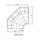 NCH LUX PR Z | Külső sarokpult teleszkópos frontüveggel