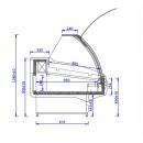 WCH LUX 1.3 S | Csemegepult teleszkópos frontüveggel