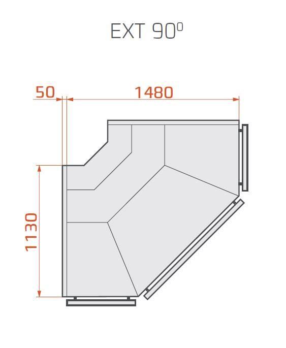 LCT Tucana 01 EXT90 | Külső sarokpult 90°