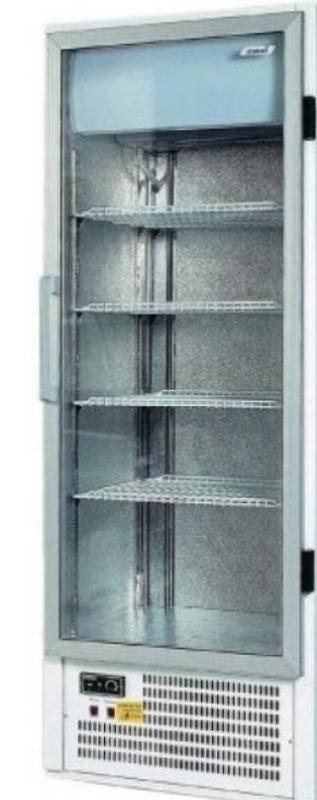 SCH 401 INOX   Üvegajtós, rozsdamentes hűtővitrin