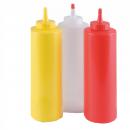 Adagoló műanyag tubus szószokhoz piros 360 ml