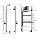SLMB 700   Laboratóriumi mélyhűtő -45°C