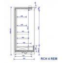 RCH 4 REM - 1.0   Hűtött faliregál