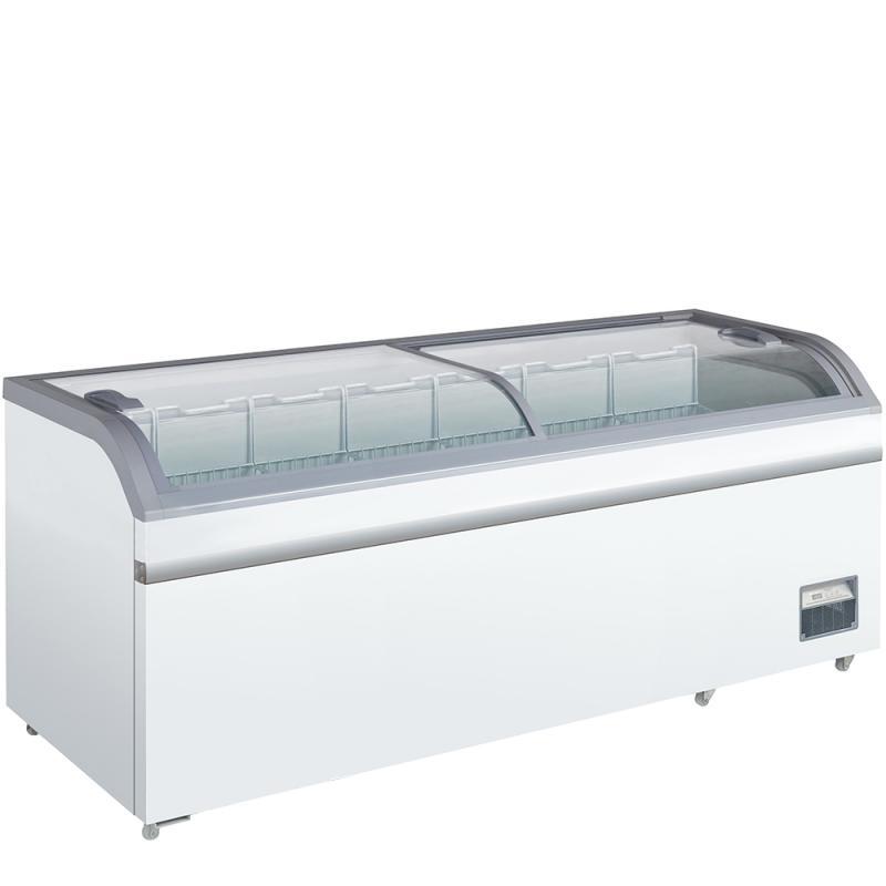 XS 802 E - Csúszó üvegtetős fagyasztóláda
