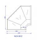 NCH IM Z   Hajlított üvegű külső sarokpult