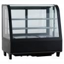 RTW-101 BE | Hajlított üvegű bemutatóvitrin