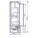 GRANDIS HGD 1.25/0.7   Hűtött faliregál