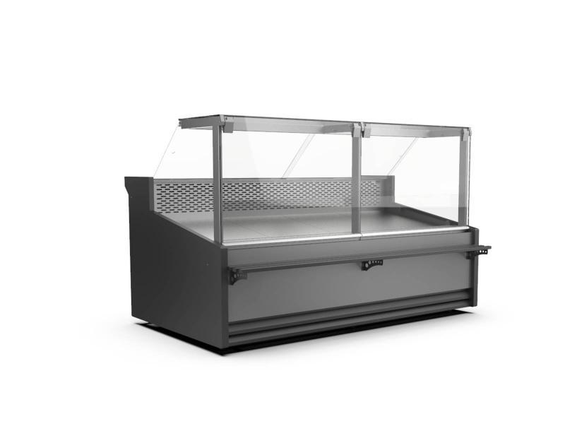 WCH-8/1 LS-080 1250 CARMEN | Egyenes üvegű csemegepult telepített aggr.(V)