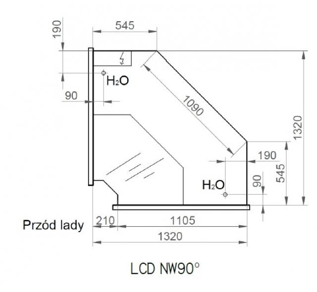 LCD Dorado INT90 - Belső sarokpult 90°