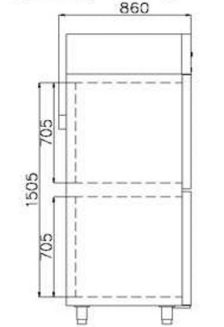 COMBI CF700 INOX - Kombinált rozsdamentes hűtő/fagyasztószekrény