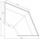 C-1 BL NZ/90/N - BELLISSIMA Semleges külső sarokpult (90°)