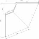 C-1 BL NW/45/N - BELLISSIMA Semleges belső sarokpult (45°)
