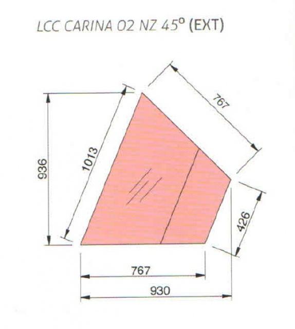 LNC Carina 02 EXT45 N - Semleges külső sarokpult (45°)