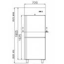 COMBI CC700 - Kétlégterű teleajtós hűtőszekrény