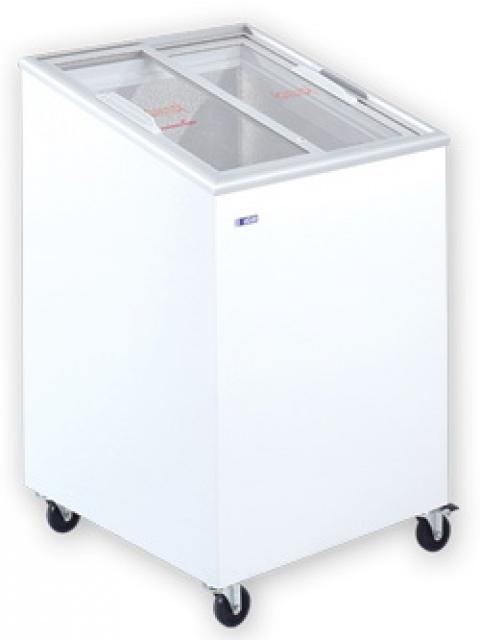 UDD 100 SCE - Mélyhűtőláda ferde, csúszó üvegtetővel
