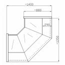 NCHCW 1,3/0,9 - Belső sarokpult (90°)