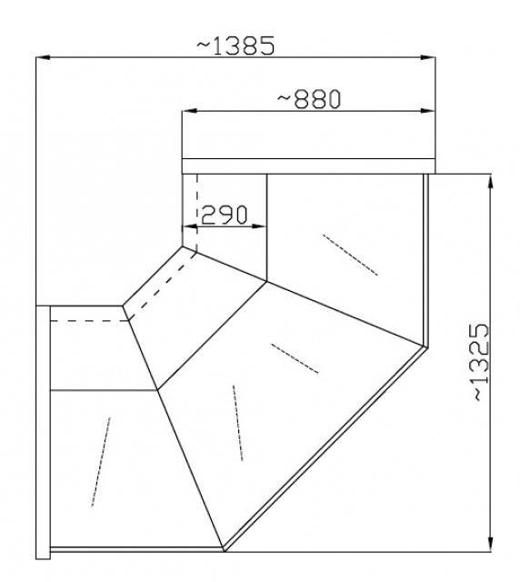 NCHCGZ 1,3/0,9 - Külső sarokpult