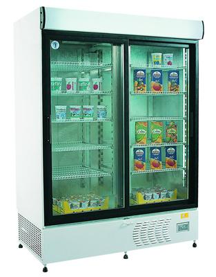 ECO+ C1200 - Csúszó üvegajtós, felépítményes hűtővitrin
