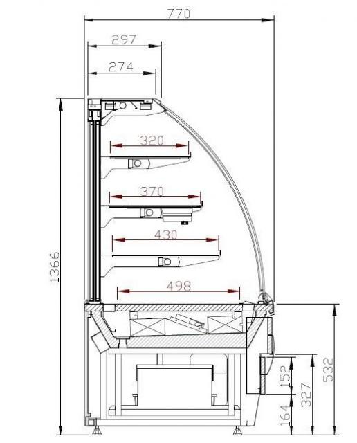 LCC Carina 02 0,6 - Cukrászvitrin