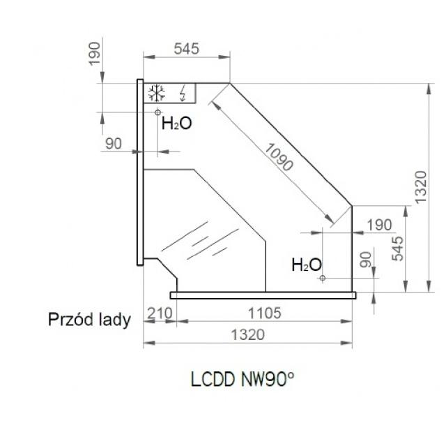 LCD Dorado D SELF REM INT90 | Önkiszolgáló belső sarokpult 90°