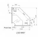 LCD Dorado D SELF REM INT90 - Önkiszolgáló belső sarokpult 90°
