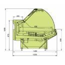 LCP Pegas 1,25 - Csemegepult teleszkópos frontüveggel