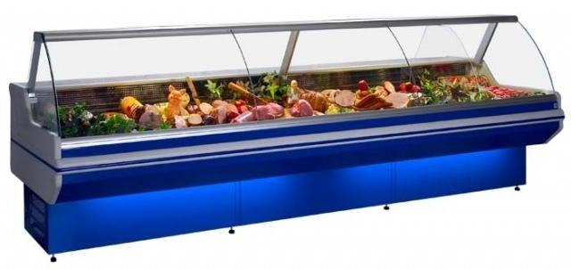 LCD Dorado D 1,2 - Hajlított üvegű csemegepult