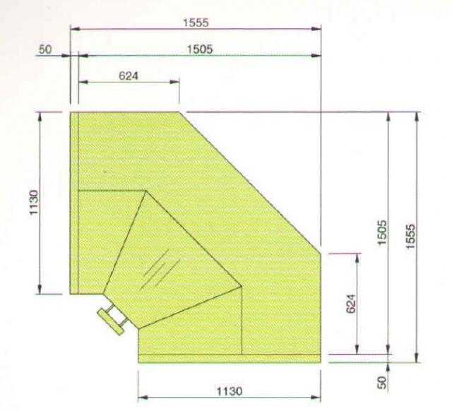 LCT Tucana 01 REM INT90 - Belső sarokpult teleszkópos frontüveggel 90°