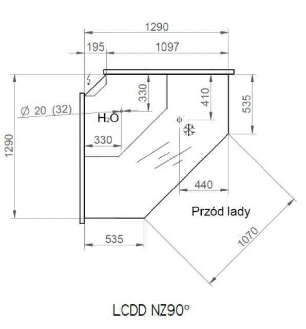 LCD Dorado D REM EXT90 - Külső sarokpult 90°