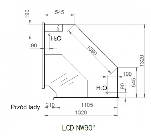 LCD Dorado REM INT90 | Belső sarokpult 90°
