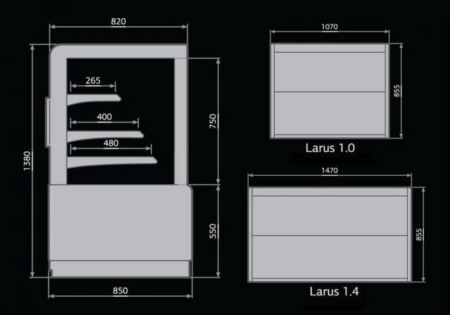 Larus 1,0 - Önkiszolgáló bemutatóvitrin