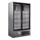CC 1200 SGD (SCH 800 R) INOX | Csúszó üvegajtós, rozsdamentes hűtővitrin