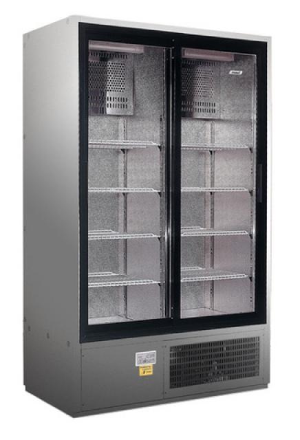 SCH 1400R INOX Cooler with sliding glass doors